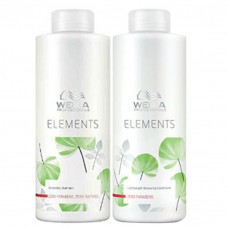 Kit Wella Professionals Elements - Shampoo 1L + Condicionador 1L