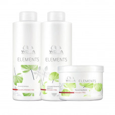 Kit Wella Professionals Elements - Shampoo 1L + Condicionador 1L + Máscara 500ml