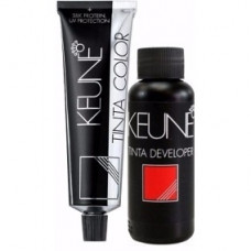 keune kit tinta color 7.44 + água oxigenada 20 vol 60ml
